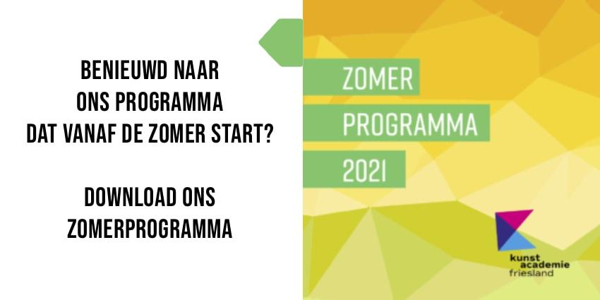 Zomerprogramma Kunstacademie Friesland 2021